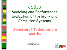 cs533 Techniques and Performance Metrics