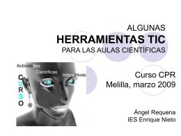 ALGUNAS HERRAMIENTAS TIC PARA LAS AULAS …