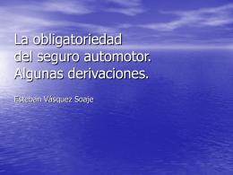 La obligatoriedad del seguro automotor. Algunas …