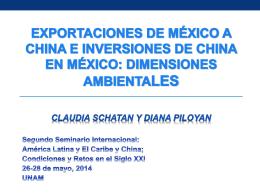 la IED china y el comercio con mexico: algunas …