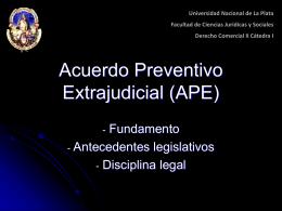 Acuerdo Preventivo Extrajudicial (APE)