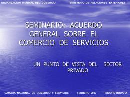 SEMINARIO: ACUERDO GENERAL SOBRE EL COMERCIO …