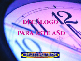 DECALOGO - Devocionales Cristianos