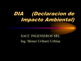 DIA (Declaracion de Impacto Ambiental)