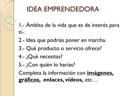 IDEA EMPRENDEDORA - Rosaisla | Blog Departamento de