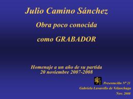 JULIO CAMINO SANCHEZ - Holismo Planetario en la Web | …