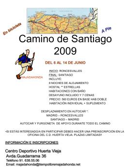 Camino de Santiago 2004