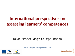 International perspectives on assessing learners' …