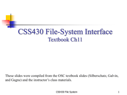 CSS430: File System - University of Washington