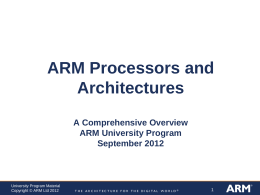 ARM Processors and Architectures Comprehensive …
