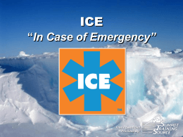 "ICE ""In Case of Emergency"""