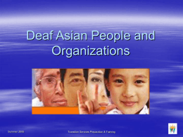Deaf Asians - People and Organizations