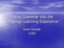 Given meaningful exposure to language, learner's …