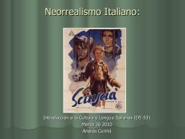 Italian Neorealism (1942-1952) - Cultura