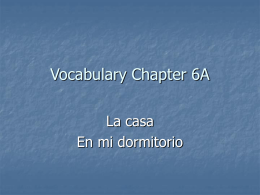 Vocabulary Chapter 6A