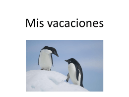 Mis vacaciones