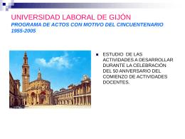 PROGRAMA DE ACTOS DEL CINCUENTENARIO