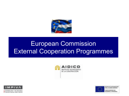 European Commission External Cooperation Programmes