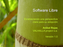 Software Libre - VALHALLA project