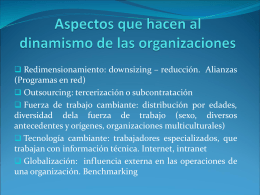 Aspectos que hacen al dinamismo de las organizaciones