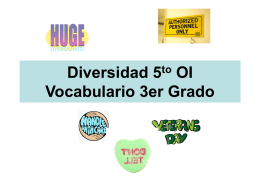 Vocabulary 4th grade