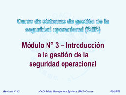 ICAO SMS Module 03 - Introduction to safety management