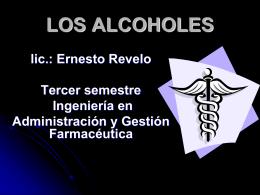ALCOHOLES - alquimia69