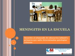 MENINGITIS EN LA ESCUELA