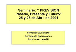 AGENDA - Universidad de Chile