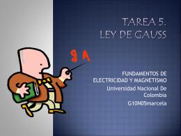 TAREA 5. LEY DE GAUSS