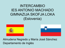 INTERCAMBIO IES ANTONIO MACHADO GIMNAZIJA …