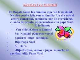 NICOLAS Y LA NAVIDAD