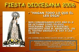 FIESTA DIOCESANA 2006