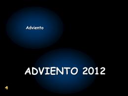 ADVIENTO 2012