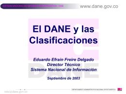 El DANE y las clasificaciones