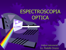 INSTRUMENTACION PARA ESPECTROSCOPIA OPTICA