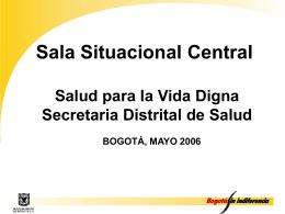 Sala Situacional para el sector Salud de Bogot&#225