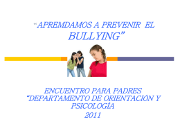 Bullying Acoso Escolar Taller para Padres