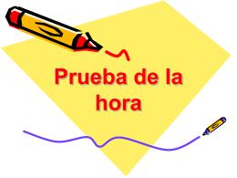 Prueba de la hora - Cuaderno Espanol