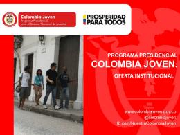 Colombia Joven: Oferta Institucional