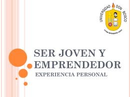 Ser Joven y emprendedor