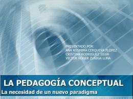 PEDAGOGIA CONCEPTUAL