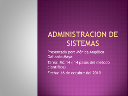 ADMINISTRACION DE SISTEMAS
