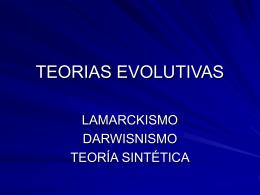 TEORIAS EVOLUTIVAS - biologianavahermosa