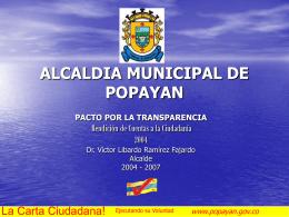 ALCALDIA DE POPAYAN