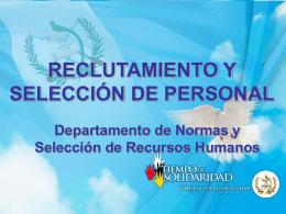 OFICINA NACIONAL DE SERVICIO CIVIL DEPARTAMENTO …
