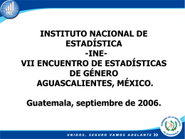 INSTITUTO NACIONAL DE ESTADISTICA -INE