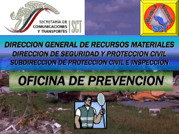 SUBDIRECCION DE PROTECCION CIVIL E INSPECCION