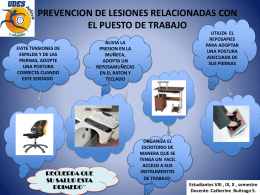 POSTURAS CORRECTAS EN LA OFICINA.
