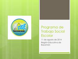 Programa de Trabajo Social Escolar
